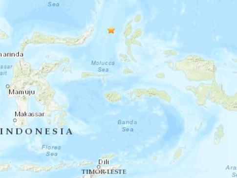 印尼海域发生5.1级地震