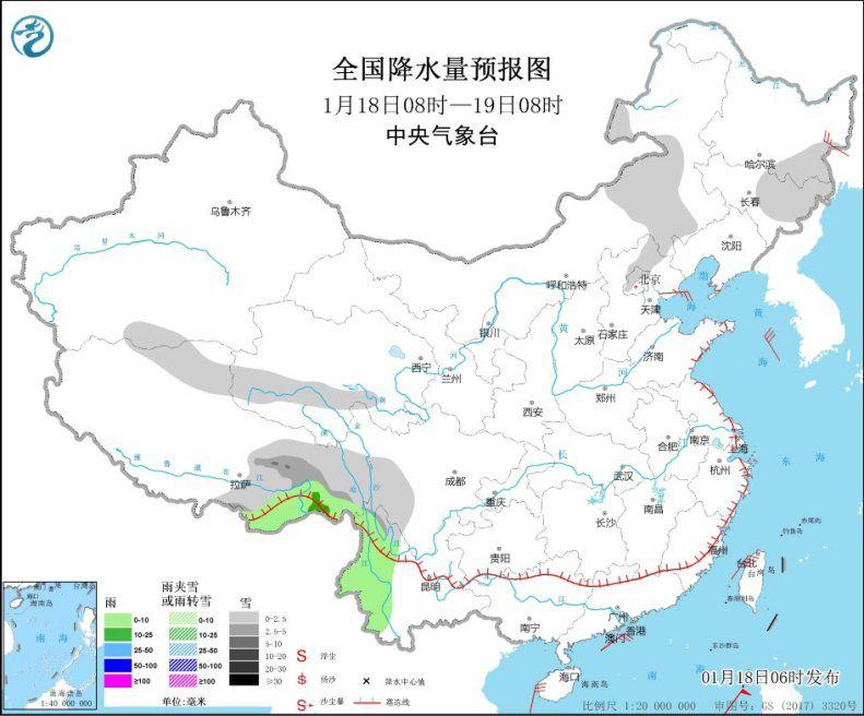 黄淮及其以南地区将有弱降水天气