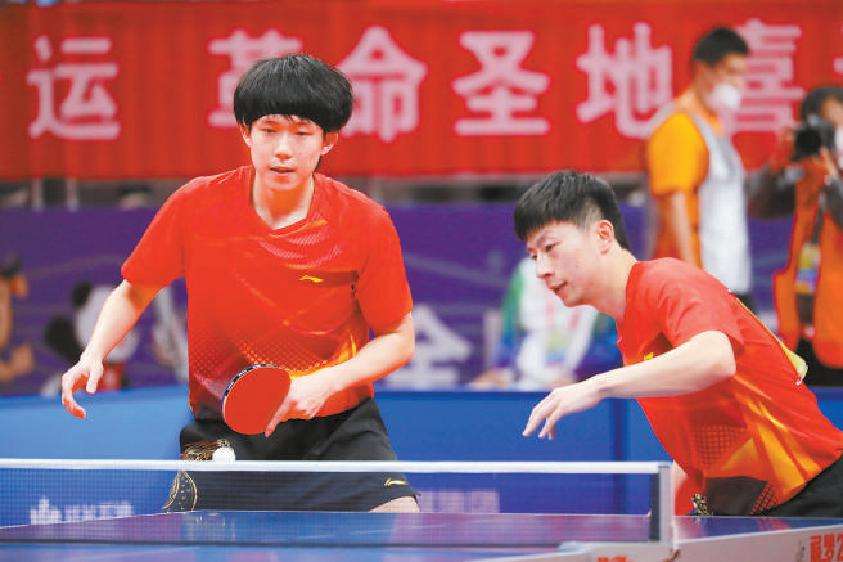 北京队拿过全运会乒乓球男双项目的冠军吗?